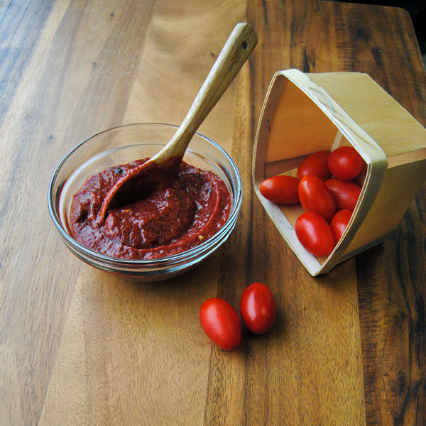 Blueberry Chipotle Ketchup with the Roma by Weston Tomato Strainer