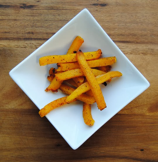 Butternut Squash Fries with a Weston French Fry Cutter