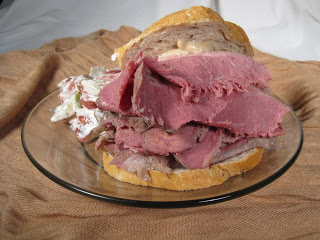 Corned Beef with a Weston Meat Slicer
