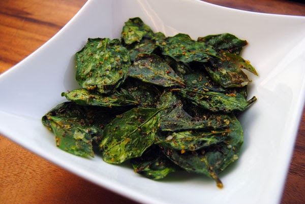 Spinach Chips in a Weston Dehydrator