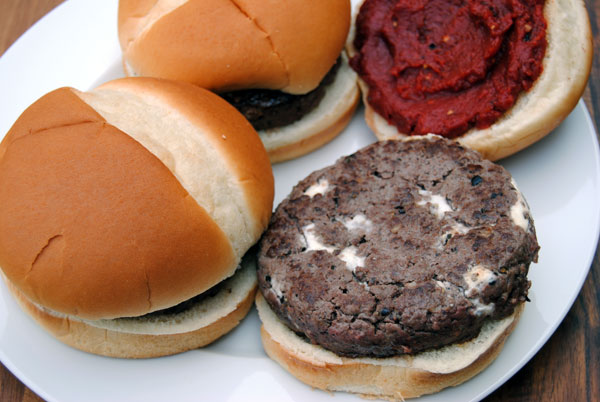 National Cheeseburger Day: Elk & Goat Cheese Burger with Blueberry Chipotle Ketchup