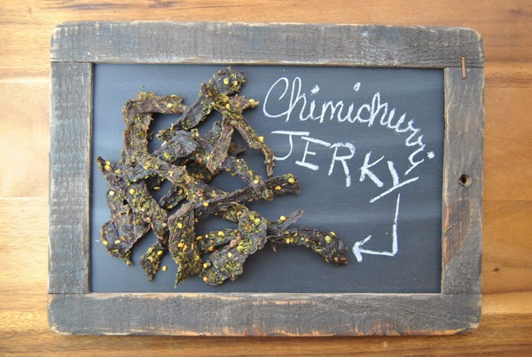 Chimichurri Jerky in a Weston Dehydrator