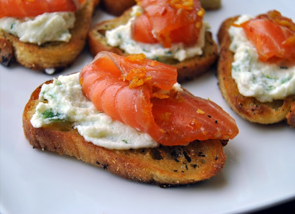 Orange Chili Gravlax with Lime Whipped Ricotta