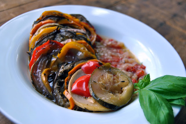 Slow Cooker Ratatouille with a Mandoline Slicer