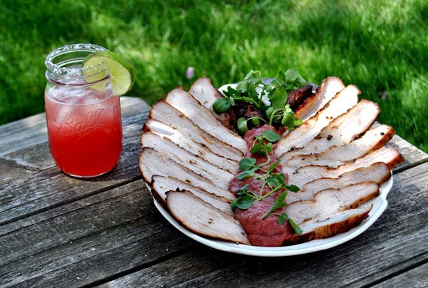 Smoked Wild Turkey with Rhubarb Barbecue Sauce Recipe