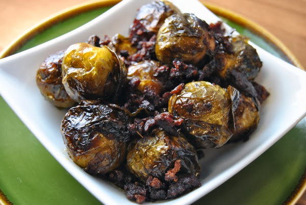 Smoked Brussels Sprouts with Chorizo