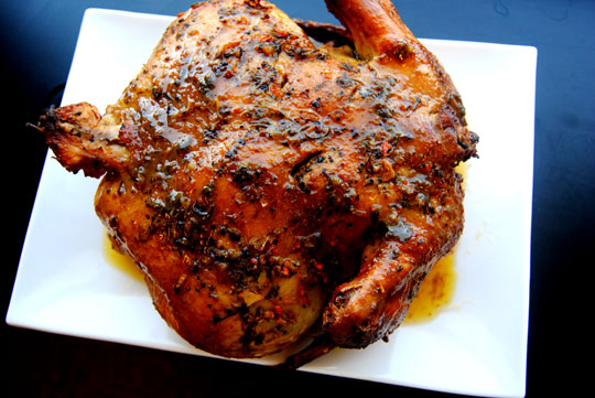 Smoked Chicken in a Weston Vertical Propane Smoker