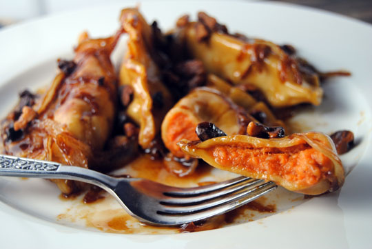 Sweet Potato Pierogies with Brown Sugar Butter & Carmelized Onions