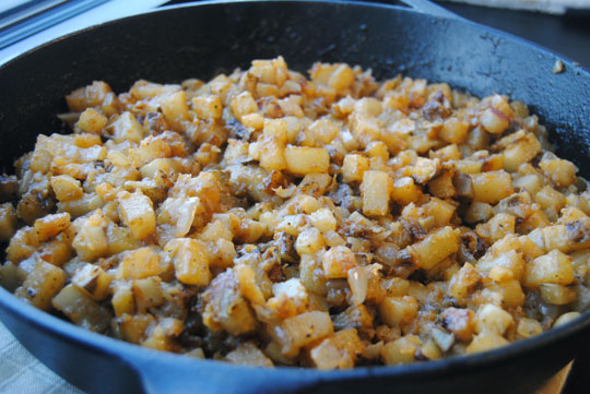 Skillet Home Fries with the Weston French Fry Cutter & Vegetable Dicer