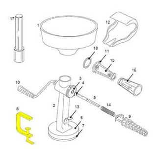 Get parts for Tomato Strainer C-Clamp 07-0842