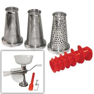 Get parts for 4 Piece Manual Food Strainer & Sauce Maker Accessory Kit (07-0858)