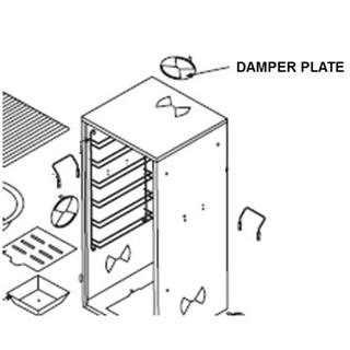Get parts for Smoker, Damper Plate for 36&48in (41-0104)