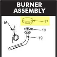 Get parts for Smoker, Copper Burner for 36&48in (41-0119)