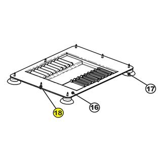 Get parts for 9 in Meat Slicer Base Cover & Foot Screws 61-0919